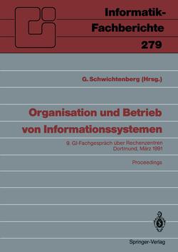 Organisation und Betrieb von Informationssystemen von Schwichtenberg,  Günter