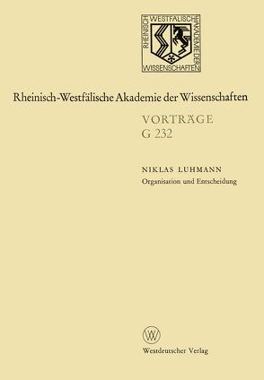 Organisation und Entscheidung von Luhmann,  Niklas