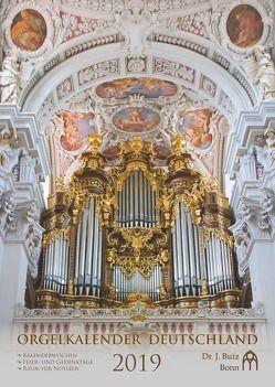 Orgelkalender Deutschland 2019 von Setchell,  Jenny