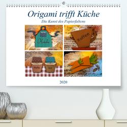 Origami trifft Küche – Die Kunst des Papierfaltens (Premium, hochwertiger DIN A2 Wandkalender 2020, Kunstdruck in Hochglanz) von Kraetschmer,  Marion