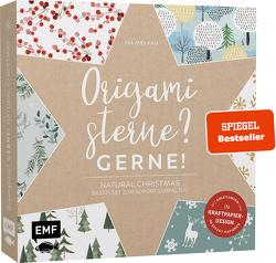 Origamisterne? Gerne! – Natural Christmas – Weihnachtliches Bastelset zum Sofort-Losfalten von Mielkau,  Ina