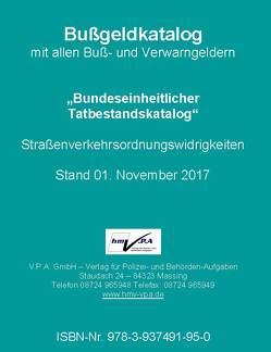 Original-Bußgeldkatalog der Polizei von V.P.A. GmbH