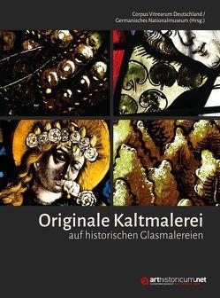 Originale Kaltmalerei auf historischen Glasmalereien