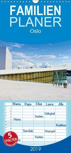 Oslo – Familienplaner hoch (Wandkalender 2019 , 21 cm x 45 cm, hoch) von Koch,  Andrea