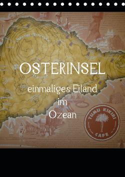 Osterinsel – einmaliges Eiland im Ozean (Tischkalender 2021 DIN A5 hoch) von Kolokythas,  Alexia