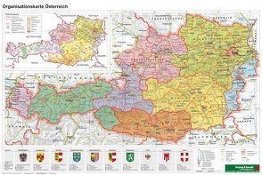 Österreich Organisiation – A3, Planokarte 1:1.300.000 von Freytag-Berndt und Artaria KG