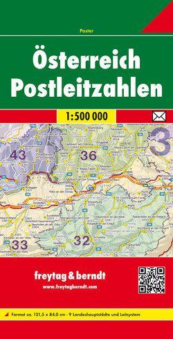 Österreich Postleitzahlen, 1:500.000