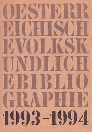 Österreichische Volkskundliche Bibliographie / Österreichische Volkskundliche Bibliographie von Ahamer,  Regine, Beitl,  Klaus, Brodl,  Michaela, Hummer,  Hermann