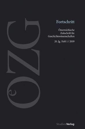 Österreichische Zeitschrift für Geschichtswissenschaften 1/09 von Sieder,  Reinhard