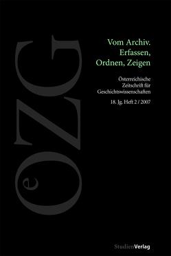Österreichische Zeitschrift für Geschichtswissenschaften 2/07 von Müller,  Philipp