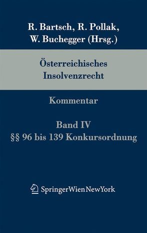 Österreichisches Insolvenzrecht von Buchegger,  Walter