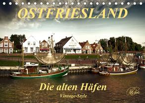 Ostfriesland – die alten Häfen, Vintage-Style (Tischkalender 2020 DIN A5 quer) von Roder,  Peter