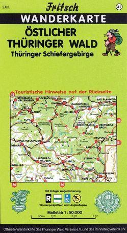 Östlicher Thüringer Wald von Fritsch Landkartenverlag