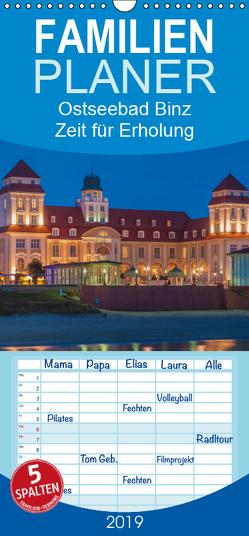 Ostseebad Binz – Zeit für Erholung – Familienplaner hoch (Wandkalender 2019 , 21 cm x 45 cm, hoch) von Kirsch,  Gunter