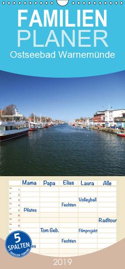 Ostseebad Warnemünde – Familienplaner hoch (Wandkalender 2019 , 21 cm x 45 cm, hoch) von Deter,  Thomas