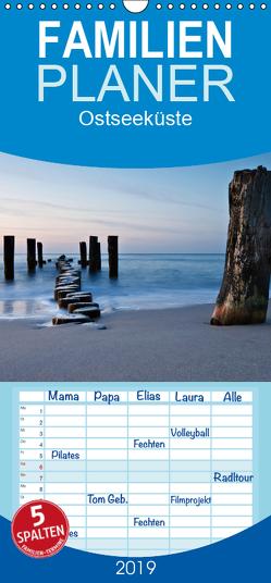 Ostseeküste – Familienplaner hoch (Wandkalender 2019 , 21 cm x 45 cm, hoch) von Ködder,  Rico