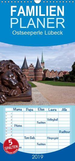 Ostseeperle Lübeck – Familienplaner hoch (Wandkalender 2019 , 21 cm x 45 cm, hoch) von boeTtchEr,  U