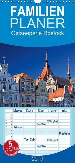 Ostseeperle Rostock – Familienplaner hoch (Wandkalender 2019 , 21 cm x 45 cm, hoch) von boeTtchEr,  U