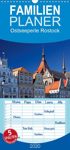 Ostseeperle Rostock – Familienplaner hoch (Wandkalender 2020 , 21 cm x 45 cm, hoch) von boeTtchEr,  U