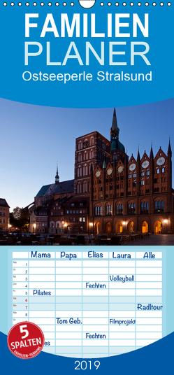 Ostseeperle Stralsund – Familienplaner hoch (Wandkalender 2019 , 21 cm x 45 cm, hoch) von boeTtchEr,  U