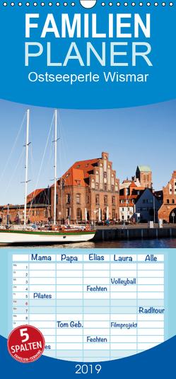 Ostseeperle Wismar – Familienplaner hoch (Wandkalender 2019 , 21 cm x 45 cm, hoch) von boeTtchEr,  U