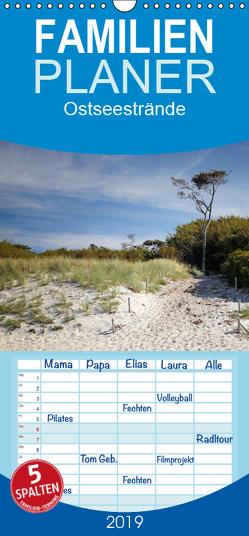 Ostseestrände – Familienplaner hoch (Wandkalender 2019 , 21 cm x 45 cm, hoch) von Deter,  Thomas