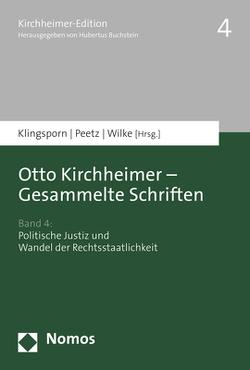 Otto Kirchheimer – Gesammelte Schriften von Klingsporn,  Lisa, Wilke,  Christiane