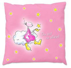 Oups-Kinder-Zirbenkissen groß (30 x 30 cm) – rosa