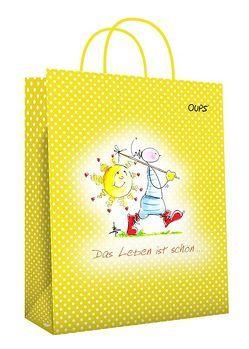 Oups Papier-Geschenktasche groß Gelb von Bender,  Günter, Hörtenhuber,  Kurt