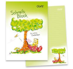 Oups-Schreibblock A4 – grün