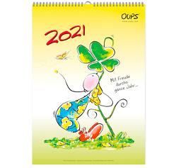 Oups Wandkalender 2021 von Bender,  Günter, Hörtenhuber,  Kurt