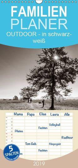 OUTDOOR – Natur- und Landschaftsbilder in schwarz-weiß – Familienplaner hoch (Wandkalender 2019 , 21 cm x 45 cm, hoch) von Bosch,  Gerhard
