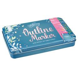Outline Marker in hochwertigem Metall-Etui von frechverlag