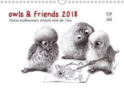 owls & friends 2018 (Wandkalender 2018 DIN A4 quer) von Kahlhammer,  Stefan