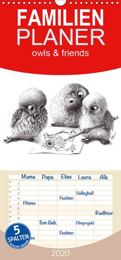owls & friends 2020 – Familienplaner hoch (Wandkalender 2020 , 21 cm x 45 cm, hoch) von Kahlhammer,  Stefan