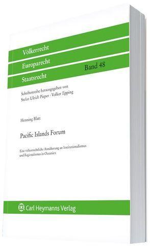 Pacific Islands Forum von Blatt,  Henning