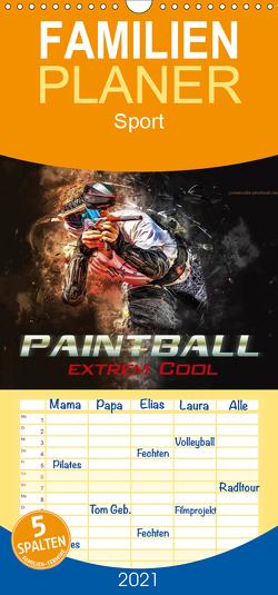 Paintball – extrem cool – Familienplaner hoch (Wandkalender 2021 , 21 cm x 45 cm, hoch) von Roder,  Peter