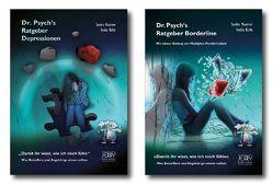Paket: Dr. Psych's Ratgeber Depressionen und Dr. Psych's Ratgeber Borderline von Dr. Maxeiner,  Sandra, Rühle,  Hedda