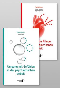 Paket: Umgang mit Gefühlen in der psychiatrischen Arbeit & Somatische Pflege in der psychiatrischen Arbeit von Beeri,  Simone, Knuf,  Andreas, Schwarze,  Thomas, Steinauer,  Regine