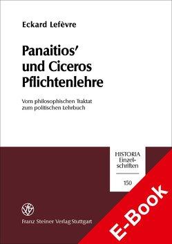 Panaitios' und Ciceros Pflichtenlehre von Lefèvre,  Eckard