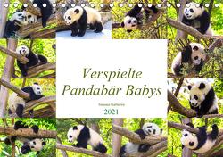 Pandabär Babys (Tischkalender 2021 DIN A5 quer) von Gatterwe,  Simone