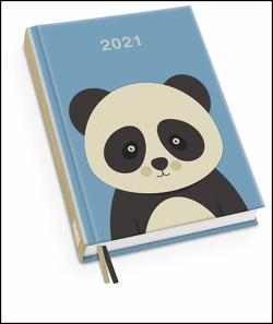 Pandabär Taschenkalender 2021 ‒ Tier-Illustration von Dawid Ryski ‒ Terminplaner mit Wochenkalendarium ‒ Format 11,3 x 16,3 cm von Ryski,  Dawid
