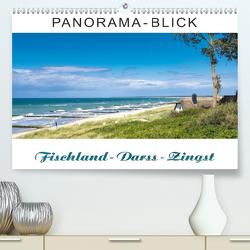 Panorama-Blick Fischland-Darss-Zingst (Premium, hochwertiger DIN A2 Wandkalender 2020, Kunstdruck in Hochglanz) von Dreegmeyer,  Andrea