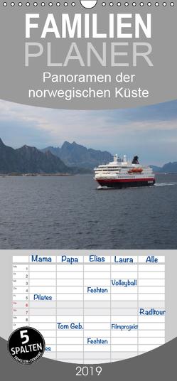 Panoramen der norwegischen Küste – Familienplaner hoch (Wandkalender 2019 , 21 cm x 45 cm, hoch) von Lacher,  Ingrid