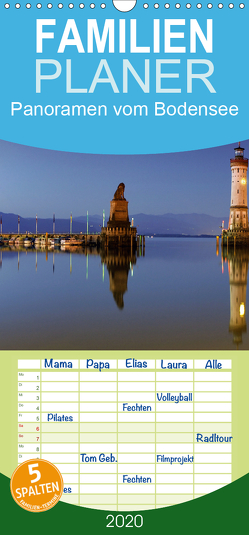 Panoramen vom Bodensee – Familienplaner hoch (Wandkalender 2020 , 21 cm x 45 cm, hoch) von Gärtner,  Oliver