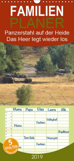 Panzerstahl auf der Heide – Das Heer legt wieder los – Familienplaner hoch (Wandkalender 2019 , 21 cm x 45 cm, hoch) von Media,  Hoschie