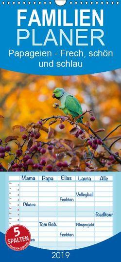 Papageien – Frech, schön und schlau – Familienplaner hoch (Wandkalender 2019 , 21 cm x 45 cm, hoch) von Voss,  Michael