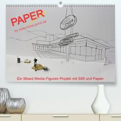 PAPERminis – Ein Mixed-Media-Figuren-Projekt mit Stift und Papier (Premium, hochwertiger DIN A2 Wandkalender 2020, Kunstdruck in Hochglanz) von Gimpel,  Frauke