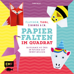 Papierfalten im Quadrat: Flamingo, Panda, Einhorn und Co. – Bastel-Kids von Precht,  Thade