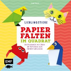 Papierfalten im Quadrat: Lieblingstiere – Bastel-Kids von Precht,  Thade